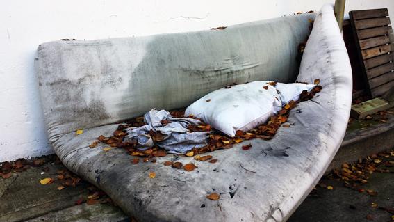 A dead futon