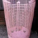 A dead laundry basket