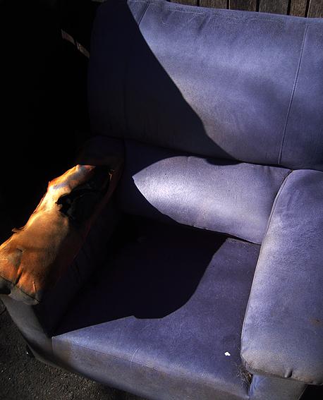 A dead armchair