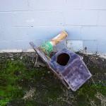 A dead scratching post