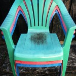 More dead stacking chairs
